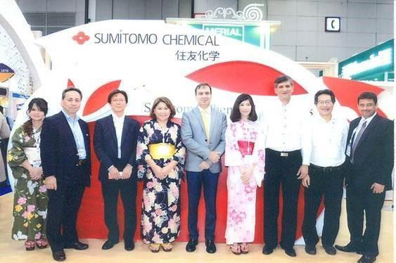 Arfeen delegation at the Sumitomo Stall.